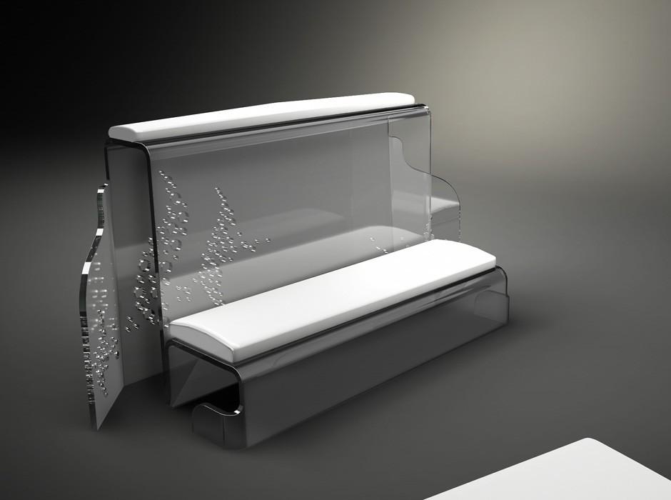 Inginocchiatoio In Plexiglass Per Matrimoni Di Design