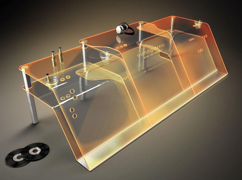 Consolle In Plexiglass Trasparente Per Deejay