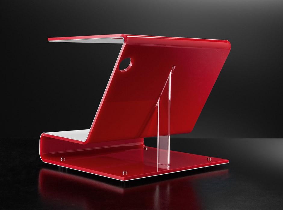 Tavolino in plexiglass colorato modello cobra - Tavolino plexiglass ...