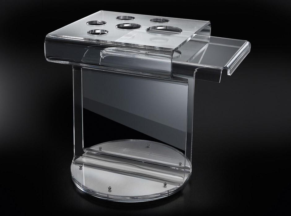 Tavolino bar in plexiglass trasparente - Tavolino plexiglass ...
